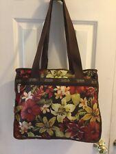 Vtg.Rare Le Sportsac Hawaii Hibiscus Flower jasmine Purse bag w.small pouch EUC