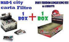 Cartine Lunghe King Size Enjoy Freedom 1 box  + Filtri di carta MAD4 city 1 BOX