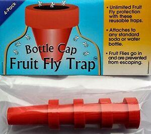 Bottle Cap Fruit Fly Trap (4-pack) New