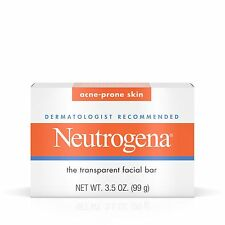 Neutrogena Transparent Facial Bar, Acne-Prone Skin Formula Soap - 3.5 oz.