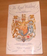 Programme: Royal Wedding 29/07/81 Charles & Diana