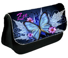 Personalised Make Up Bag Pencil Case Cosmetic Bag Butterfly Christmas Gift 4 Her