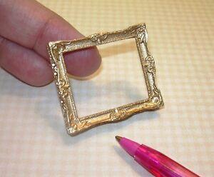 Miniature Elegant Gold Resin Frame #1 (MEDIUM): DOLLHOUSE 1:12 Scale