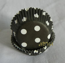 100 black dot mini cupcake liners bake cup 33x20mm party cake paper cup