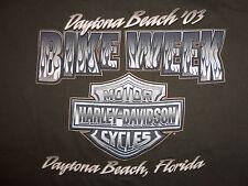 Harley Davidson Motorcycles Daytona Beach Biker Vintage 2003 Green T Shirt XL