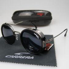 bc86f47b2b3b5 New Men Women Retro Sunglasses Round Windproof Matte Frame Metal Carrera  Glasses
