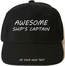 AWESOME SHIP'S CAPTAIN PERSONALISED BASEBALL CAP HAT XMAS GIFT