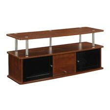 Convenience Concepts Designs2Go TV Stand with 3 Cabinets, Cherry - 151202CH