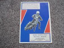 * HALIFAX v BRISTOL 18/3/78 speedway programme