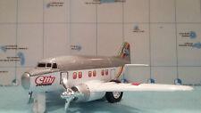 avion CITY EXPRESS gris et blanc de VINTAGE AIRLINER avion miniature a friction