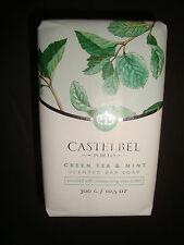 New Castelbel Made in Portugal 10.5oz/300g Luxury Bath Bar Soap Green Tea & Mint