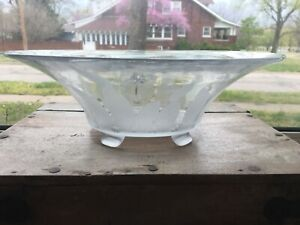 """Cambridge Glass 12"""" console bowl, LILY OF THE VALLEY etch, ca. 1935"""