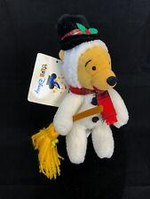 Winnie the Pooh Snowman Club Disney Plush Beanie Baby Winter Christmas