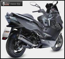 SCARICO MIVV KYMCO XCITING 400 ap. 2013 ( più forte, Acciaio Inox Nero, MOTO )