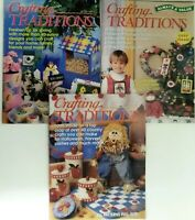 Lot of 3 Crafting Traditions Magazines Mar/Apr Sept/Oct Nov/Dec 1998
