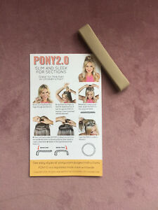 (1) ONE PONY-O 2.0 Slim Hair Tie Band Clip NEW!  **Sandy Beach Blond**