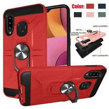 For Samsung Galaxy A20S A21 Case Shockproof Hard TPU Cover With Ring Kickstand