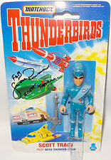 THUNDERBIRDS : SCOTT TRACY ACTION FIGURE WITH SHANE RIMMER AUTOGRAPH
