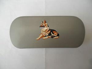 Alsatian/German Shepherd dog brand new metal glasses case,great gift Christmas