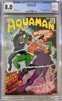 DC AQUAMAN 35 CGC 8.0 - 1st APPEARANCE BLACK MANTA 1967 OCEAN MASTER CLEAN SLAB