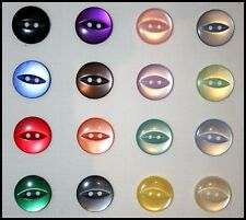 FISH EYE BABY BUTTONS ASSORTED SIZES AND COLOURS  SAME DAY FREE POSTAGE