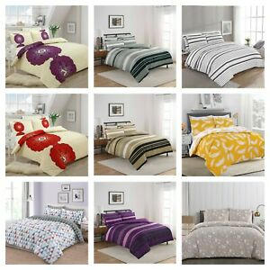 Duvet Cover with Pillow Case Quilt Cover Bedding Set Single Double King & S King