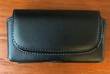 Horizontal Men's Genuine Leather Cell Phone Pouch Case Cover Belt Loop Holder