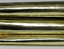 METALLIC LIGHT GOLD strong Italian Goatskin Goat leather skin 4+sqf 0.8mm #A5623