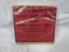 Original Antique Full Box Of 100 Winchester No. 645 Brass Primers