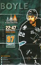 Dan Boyle Poster--San Jose Sharks--2013-14 Pocket Schedule--KFOX