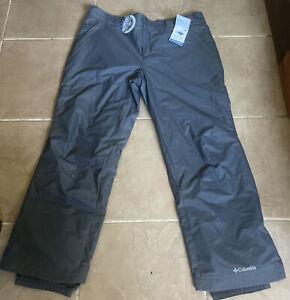 NEW Mens GREY Columbia Breathable Waterproof Omnitech Grey Snow Ski Pants XXL