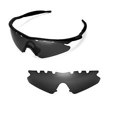 New WL Polarized Black Vented Replacement Lenses for Oakley M Frame Sweep