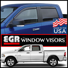 2009-17 Dodge Ram Crew Cab EGR Window Vent Visors Rain Guards In-Channel 4 Piece