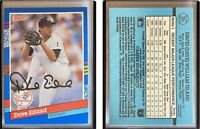Dave Eiland Signed 1991 Donruss #354 Card New York Yankees Auto Autograph