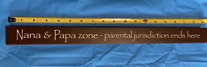 "Wooden Block Plaque ""Nana And Papa Zone"""