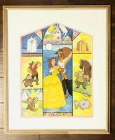 HTF Disney's Beauty And The Beast TALE AS OLD AS TIME Limited Ed Framed Sericel