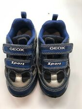 Euc! Boys Geox Light Up Sneakers Sz 9 Handsome Style!