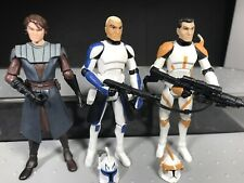 Star Wars Clone Wars TCW Captain Rex Commander Cody Anakin Skywalker 501st Lot