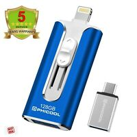 iPhone Backup Drive Photo Stick For iPhone OTG Android 128GB Usb Flash Drive 3.0