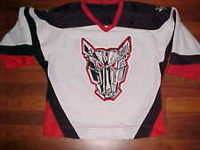 Crossbar Ontario Canada OHL Mississauga IceDogs Jr Ice Hockey Youth Jersey L/XL