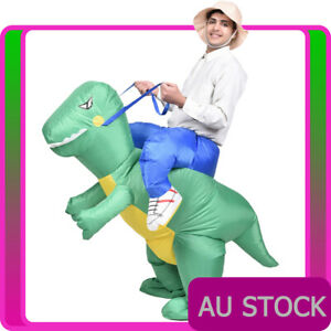 Adult Inflatable Dinosaur Ride on T-Rex Trex Rider Mens Costume Blow Up Party