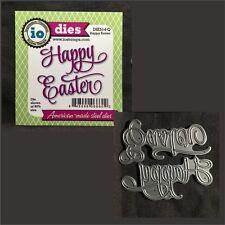 Happy Easter metal die cut Impression Obsession cutting dies DIE514-Q words