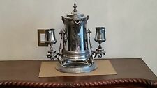 1860 Red & Barron Plated Water Tipper with 2 Goblets and Porcelain Liner