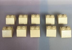 Lego Brick, Slop 45 2 x 2 Tan X10