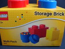 NEW LEGO Storage Brick Multi-Pack Set 4014 Project Case 2 Stud Red Organizer NIB