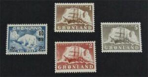nystamps Greenland Stamp # 36-39 Mint OG NH $37   L23y272