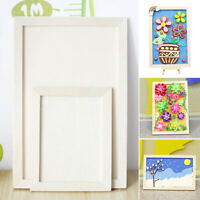 Blank White Square Artist Canvas Wooden Board Frame For Primed Oil Acrylic New