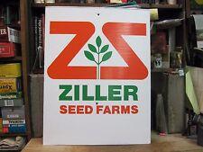 ZILLER FARM SEED company field sign HYBRIDS seed corn SOYBEANS BIRD ISLAND MN