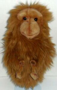 """TOYS BY DAPHNE BROWN MONKEY HAND PUPPET 14"""" ANIMAL PLUSH DOLL FASTEN HANDS"""