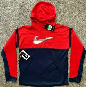 Nike Boy's Therma Fit Graphic Pullover Hoodie BV3785 Size XS XL